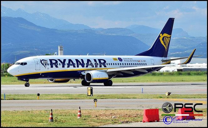 EI-DPI B737-8AS 33608/2173 Ryanair @ Aeroporto di Verona - 2016 © Piti Spotter Club Verona