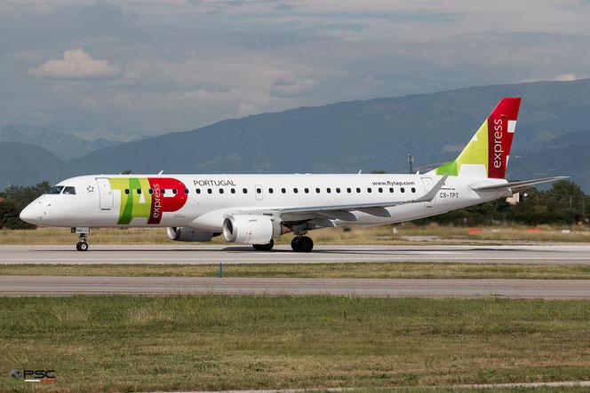 CS-TPT Embraer 190/195 TAP Portugal - Transportes Aéreos Portugueses @ Aeroporto di Verona © Piti Spotter Club Verona