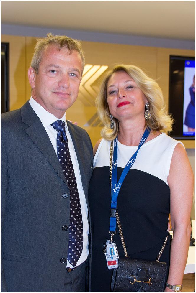 Paolo Arena e Anna Capozzo, Vicequestore Polizia di Stato, responsabile del nucleo dell'Aeroporto di Villafranca