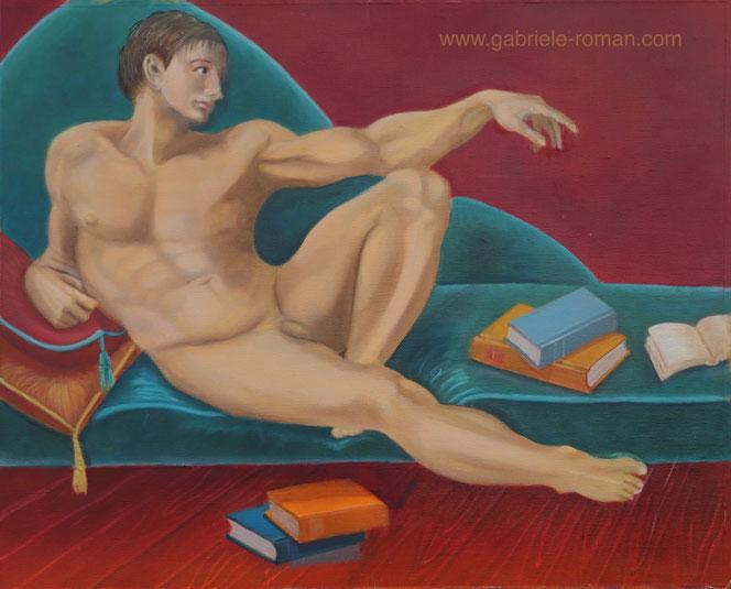 Eva und Adam, Öl mit Höhung durch Eitempera, 2011