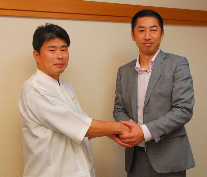 池田市の整体院【気らく庵】にご来院いただいた、阪神タイガース元コーチの今岡誠氏
