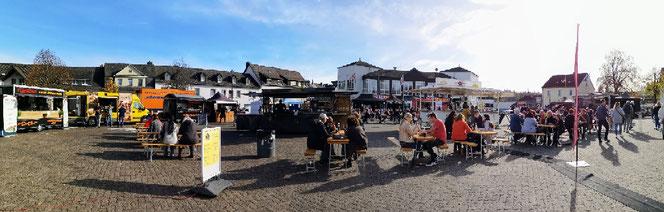 Das Streetfood Festival im Rahmen des Verkaufsoffenen Sonntag 2019 am Marktplatz in Daun