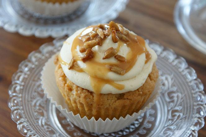 Erdnussbutter-Toffee-Cupcakes
