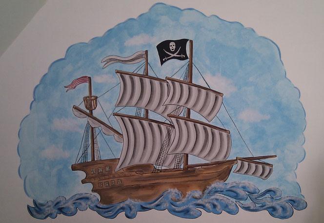 Piratenschiff/Entwurf und Foto: Anke Pietrowski