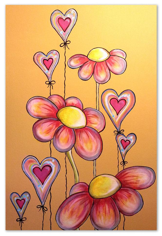 Herzige Blumen/Entwurf und Foto: Anke Pietrowski