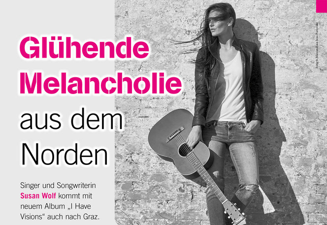 """Singer und Songwriterin Susan Wolf kommt mit neuem Album """"I Have Visions"""" auch nach Graz."""