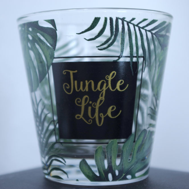 Glas jungle life muster monstera