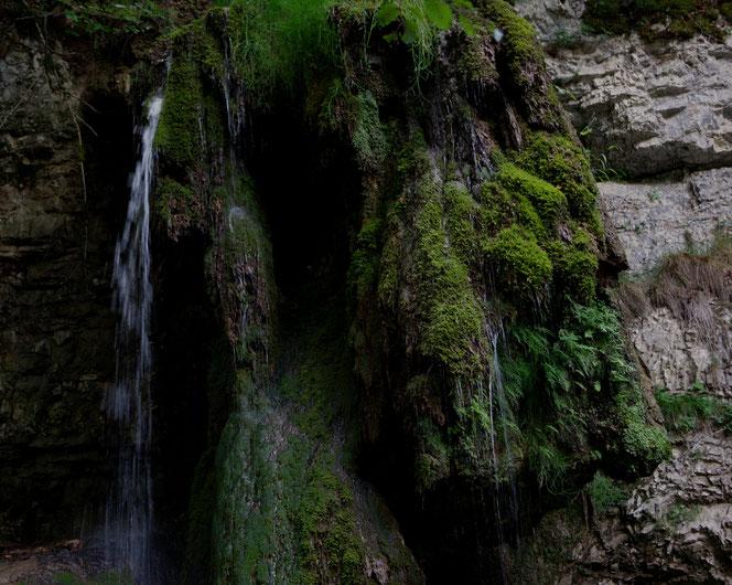 Einer der vielen kleineren Wasserfälle in der Nähe des Rümmelesteg im Hochschwarzwald, auf der Strecke des Schluchtensteigs