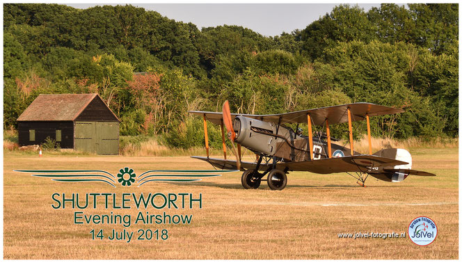 Shuttleworth Evening Airshow,Bristol F2B Fighter