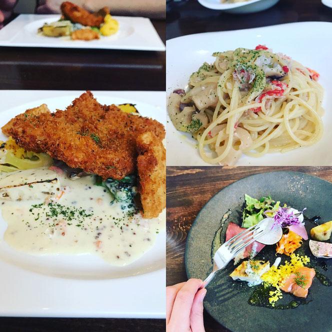 美味しい能登の魚を使ったビストロ料理。イタリアンなパスタもあります。