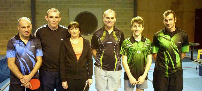 Ludovic, Christophe et Fabienne contre Francis, Edouard et Philippe