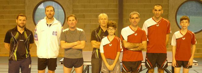 Emmanuel, Florent, Sylvain et Bernard contre Noa, Laurent, Anthony et Benjamin