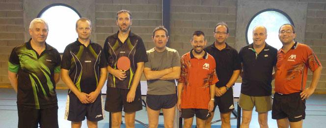 Thierry, Marc, Florent et Sylvain contre Ludovic, Samuel, Olivier et Christophe