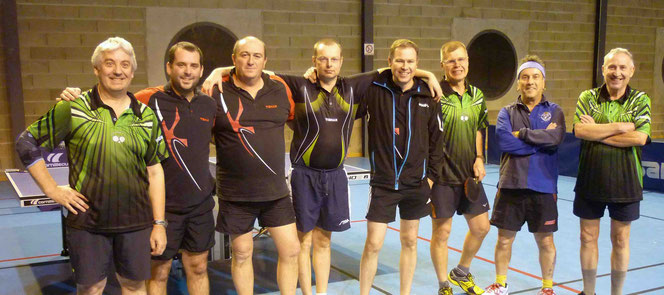 Thierry R., Sylvain, Jean-Michel, Marc, Stéphane, Thierry L., Laurent et Michel