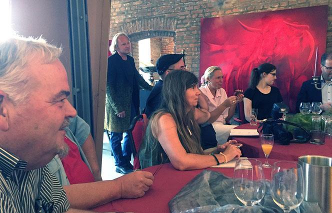 Pressekonferenz in entstpannter Atmosphäre –Atelier Sascha Reichert, Solinger Top-Künstler.