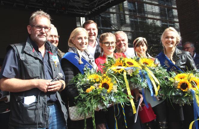 Der schönste Moment des Zöppkesmarktes: Die Proklamation der Miss Zöpfchen. (Foto: B.Glumm)