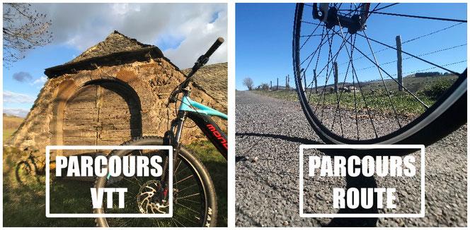 Idées de parcours Gps Gpx pour circuits VTT et circuits route, vélo de route et cyclotourisme sur l'Aubrac