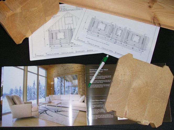Typenhaus aus der Katalog oder ein Blockhaus Unikat - Wolfsburg - Niedersachsen - Energiesparhaus - Naturhaus - Niedrigenergiehaus - Wohnhaus - Neubau - Immobilie - Hausbau