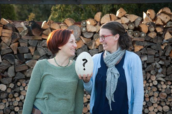 """Die """"Jagd"""" beginnt in Kürze. Stefanie Nosek (li.) und Vivian Kammholz (re.) können's kaum erwarten."""