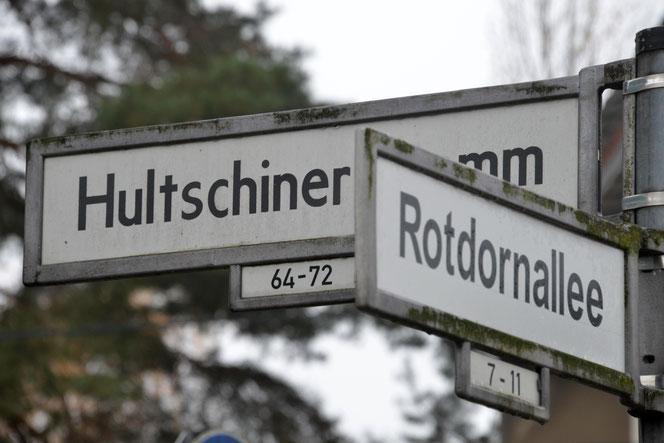 Autofahrer müssen ab 9. Dezember den Hultschiner Damm zwischen Rotdornallee und Roseggerstraße umfahren. © pressefoto-uhlemann