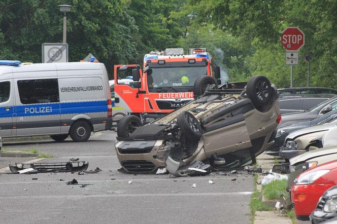 Der Unfall ereignete sich in der Cottbusser Straße. © Dominik Totaro