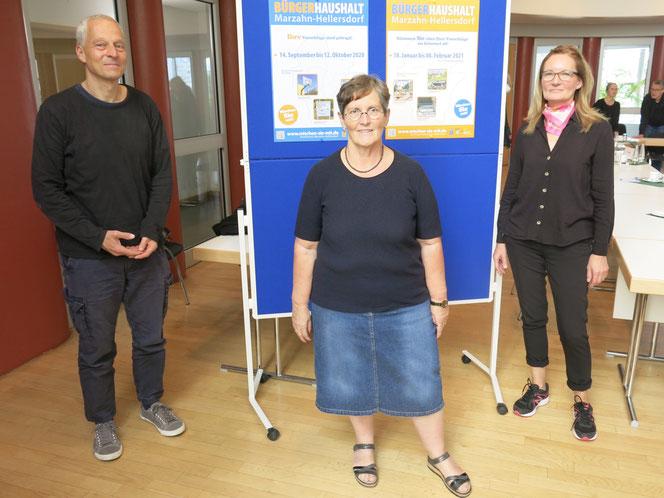 Jörn Brenssell, Dagmar Pohle und Kerstin Schwarz informierten bei einem Pressegespräch über den neuen Bürgerhaushalt für die Jahre 2022/23.