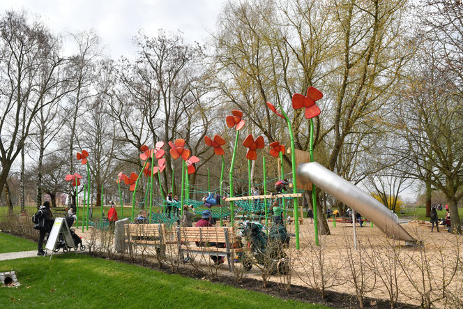 Der neue Spielplatz in den Gärten der Welt. © pressefoto-uhlemann-de