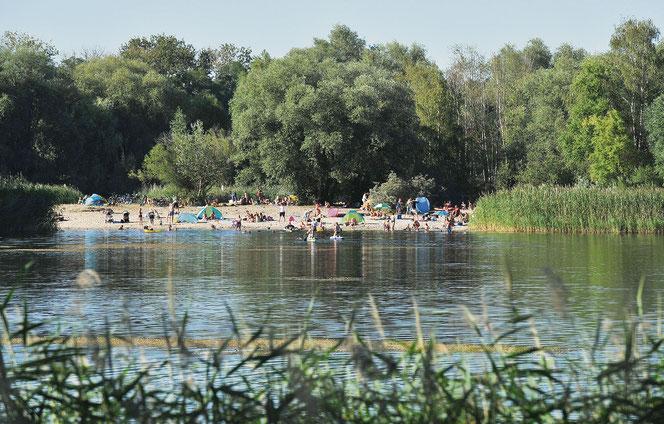 Baden ist hier eigentlich verboten. An die Kaulsdorfer Seen und den Biesdorfer Baggersee strömen trotzdem täglich Tausende Besucher. © pressefoto-uhlemann.de