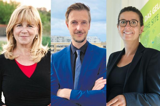 Juliane Witt (Linke), Gordon Lemm (SPD) und Nadja Zivkovic (CDU)