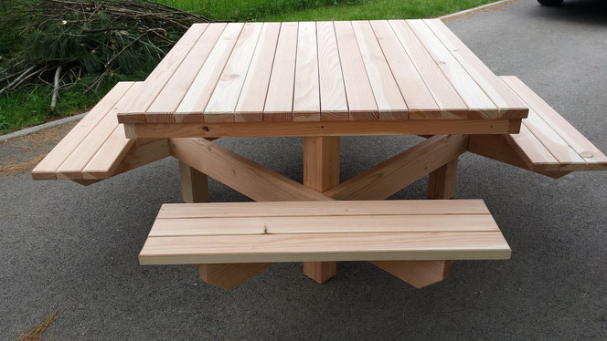 Table 4 bancs 470€ TTC l'ensemble