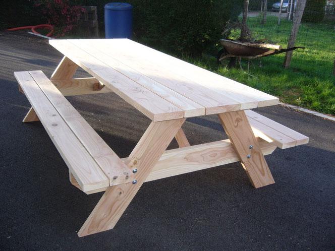 Table Picnic  370€ TTC l'ensemble