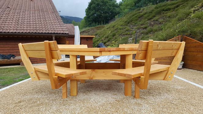Table 4 bancs Confort 580€ TTC l'ensemble