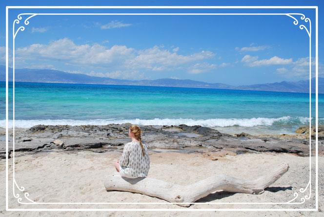 Blick auf das Mittelmeer Insel Chrissi Kreta Insel Chrissy  Insel Chrissi Kreta Ausflug Bootstour