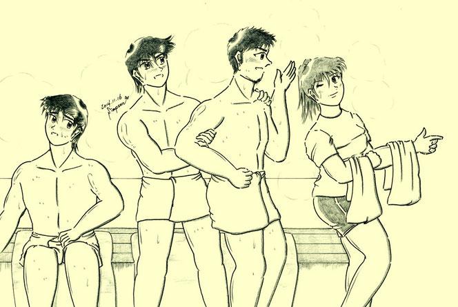 左から龍、健太郎、修平、夏輝