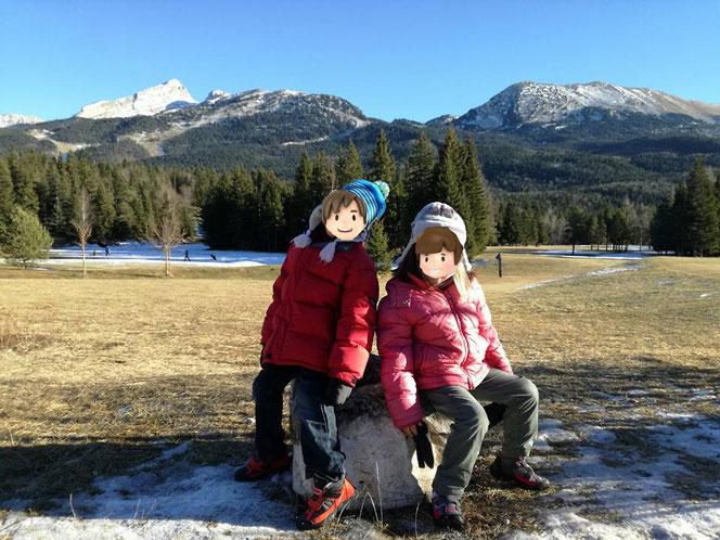 randonnée d'hiver en famille