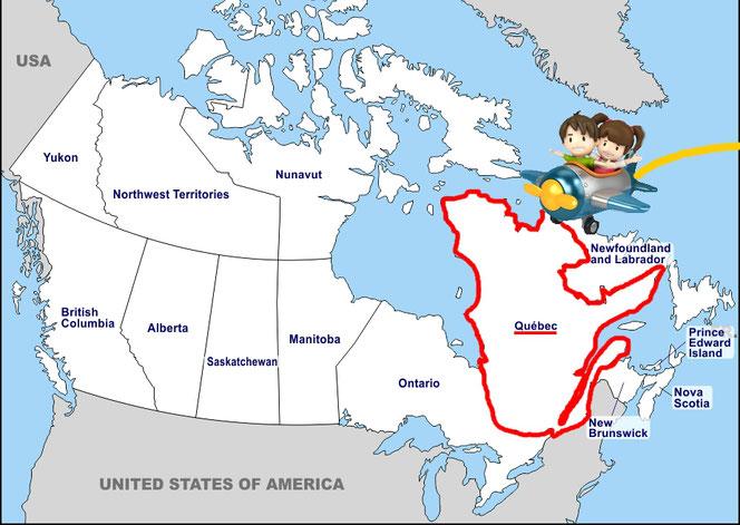 La province du Québec au Canada