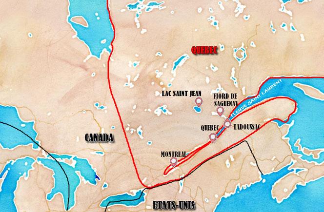 Lieux d'intérêt au Québec visités par la famille