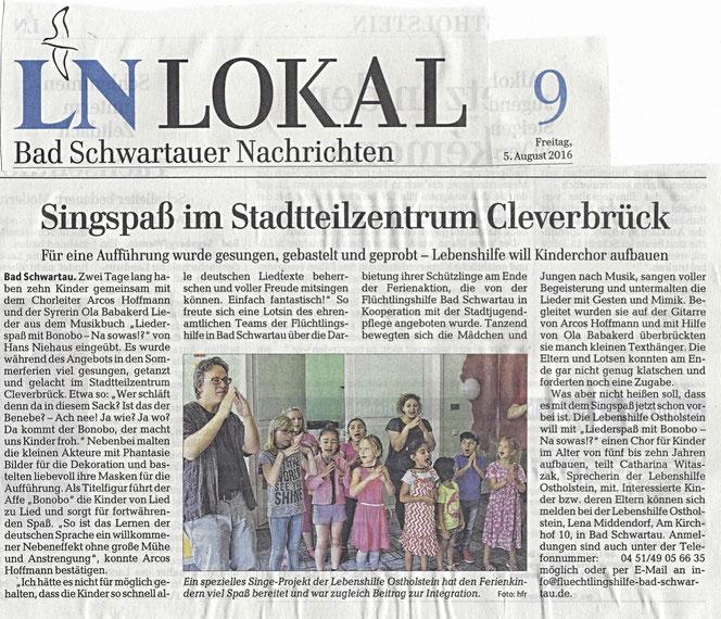 Aus: Lübecker Nachrichten