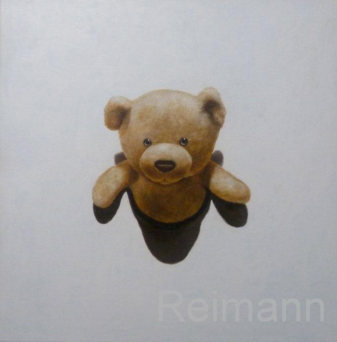 Ölbild mit Teddybär 70x70cm