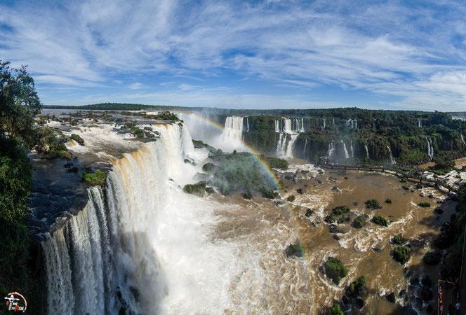 Brasilien - Motorrad - Reise - Worldtrip - Motorcycle - Südamerika - South america - Die Iguazu Wasserfälle von der brasilianischen Seite.