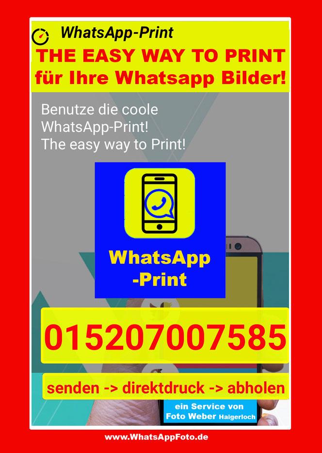 Whatsapp Bilder als Foto