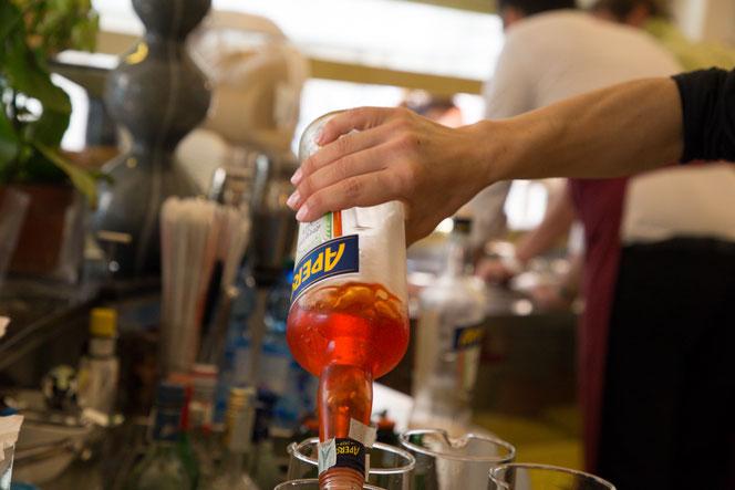 Preparazione originale Spritz aperitivo Aperol Paodva