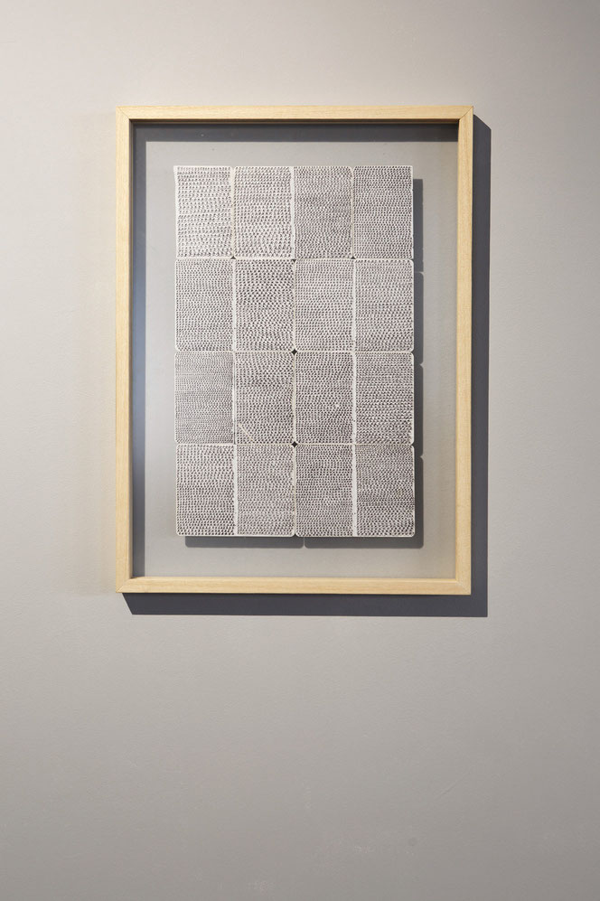 Autoritratto - penna su carta, archiviazione fogli di taccuino - 2005