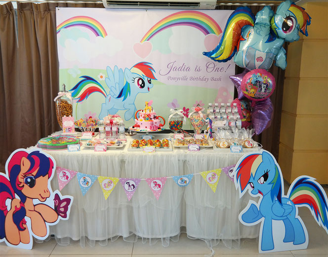 mesa de dulces de my little pony