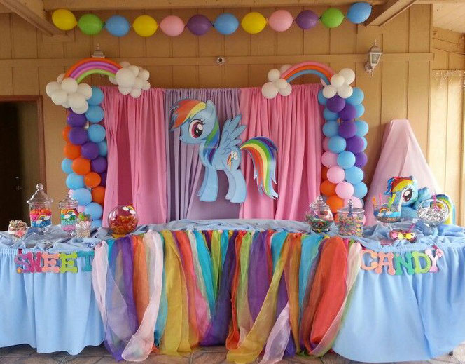 arreglo fiesta de my little pony