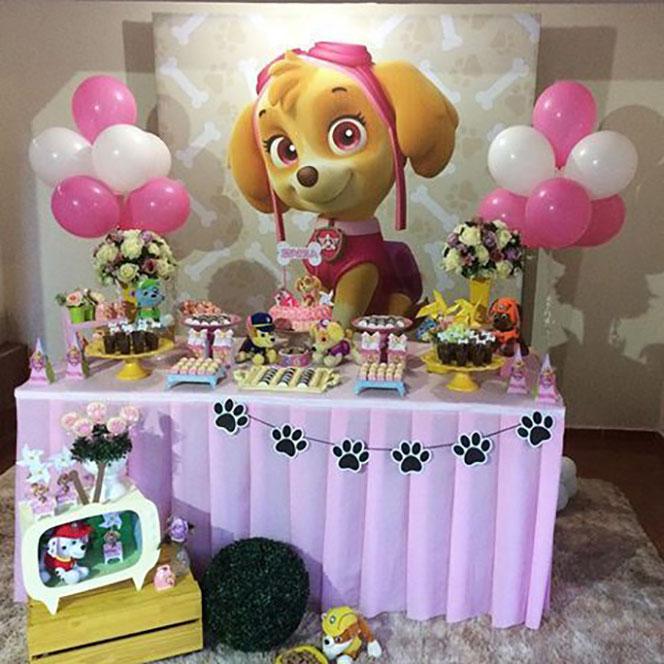 decoracion fiesta paw patrol para niña