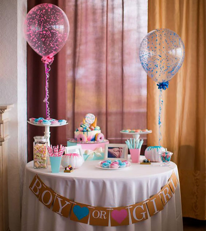mesa de dulces gender reveal