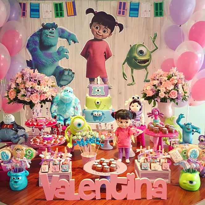 decoracion fiesta de monsters inc niña