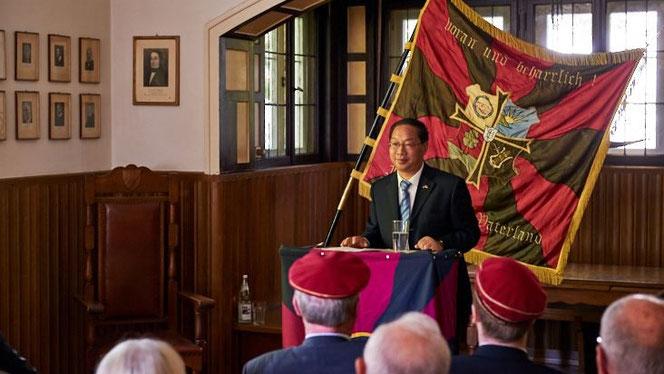 Der Vortrag des chinesischen Botschafters ist einer in einer langen Reihe von Vorträgen zu politischen Themen im Teutonenhaus