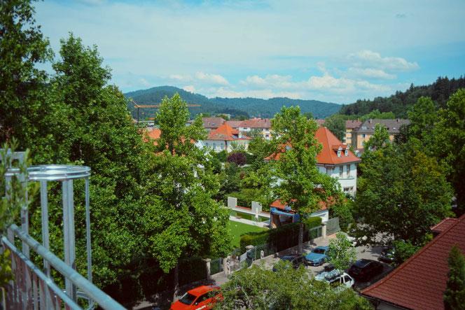 Die Aussicht mit Blick Richtung Höllental